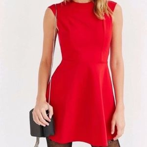 UO Silence & Noise Red Skater Dress Cut Out Back